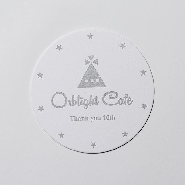 Orblight Cafe様 10th Anniversary! : 活版 コースター